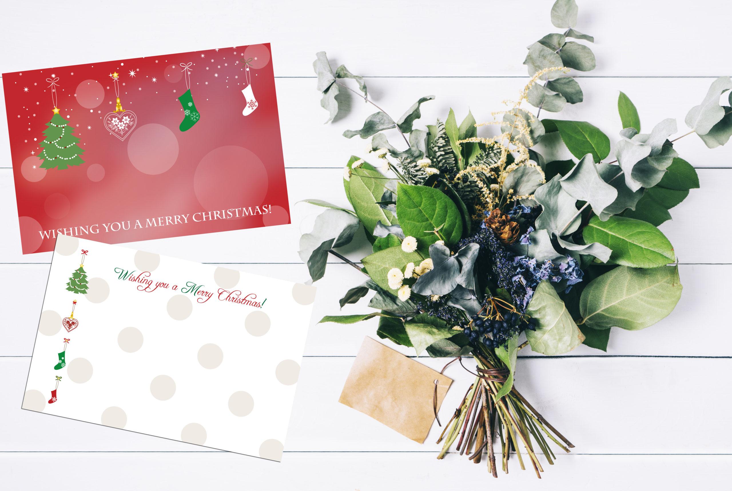 クリスマスカード無料テンプレート