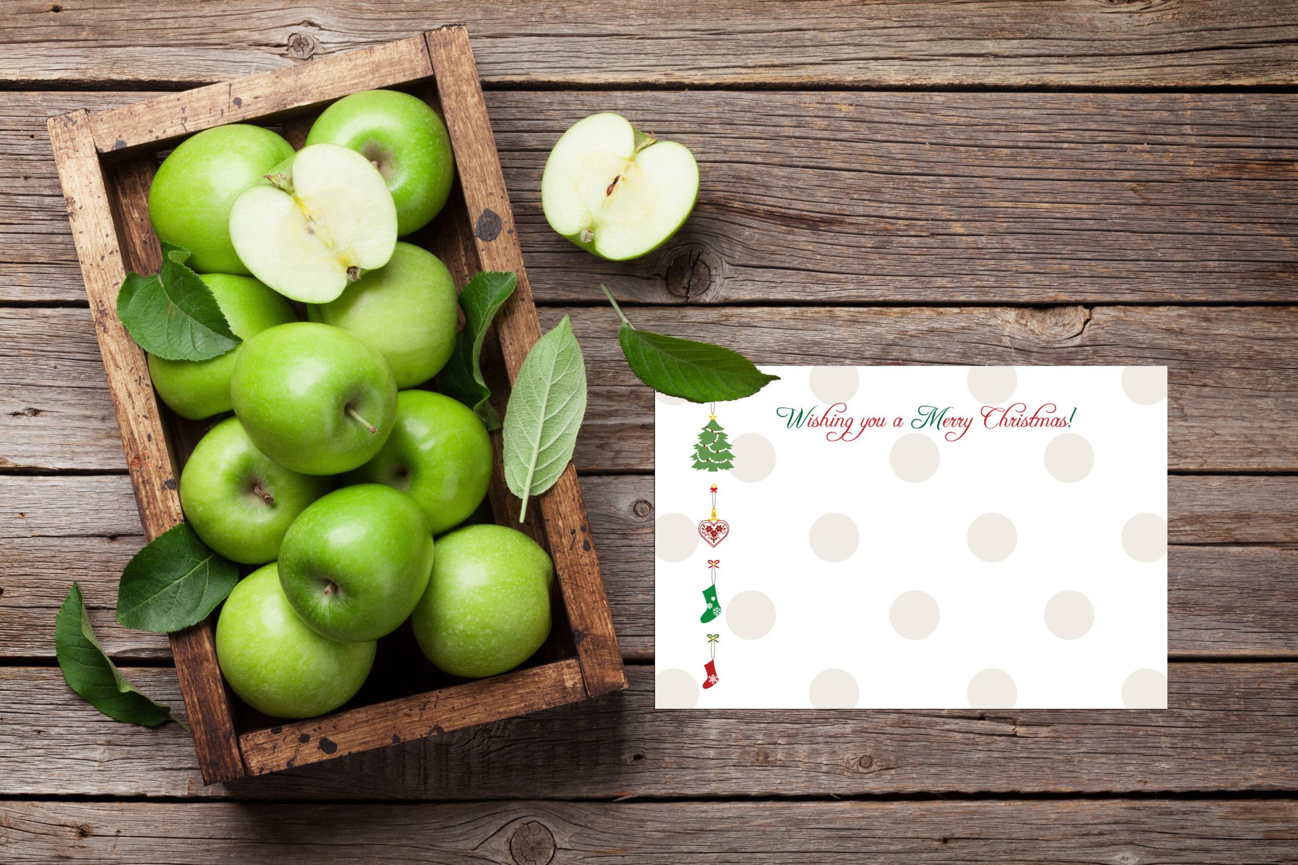ホワイトクリスマスのカード無料テンプレート