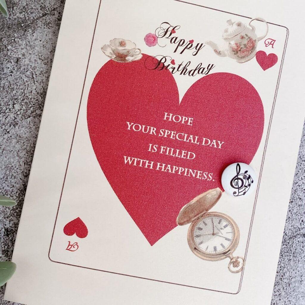 手作り誕生日カードアリストランプ